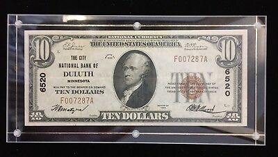 Series of 1929 $10 National Bank Note of Duluth