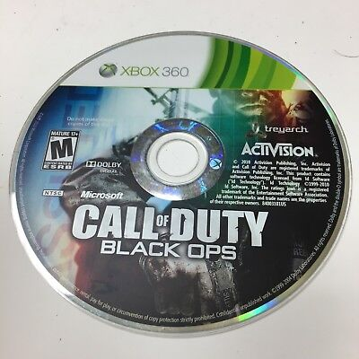 Call of Duty Black OPS Xbox 360 Microsoft DISC ONLY