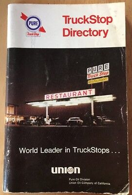 Vintage Collectible Union 76 Pure Truckstop Directory Maps 1960's