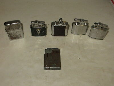 % Lot Of 6 Vintage Tobacco Lighters Chelsea, Ronson, Realite, Ready & Zippo %