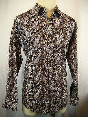Mens JOE  Joseph Abboud 100% Cotton LS Paisley Casual Shirt sz L