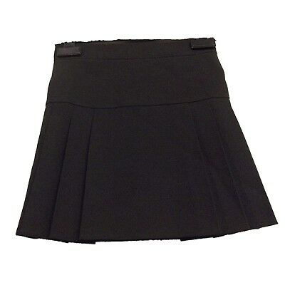 FAB NEW GIRLS EX BHS BLACK DROP WAIST PLEATED SCHOOL SKIRT AGE 3-16 years (HHH)