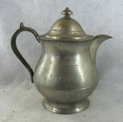 Antique American Pewter Pitcher