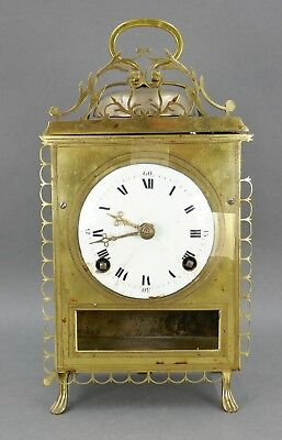 Fine Antique French 18th Century Capucine Pull String Repeater Carriage Clock