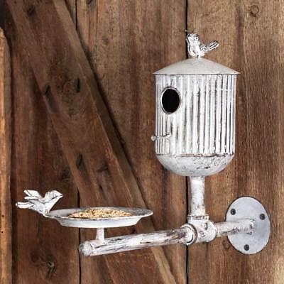 Large Classic Farmhouse Rook's Roost Bird Feeder and Birdhouse BO until 8 22!