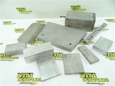 """Lot Of Assorted Flat & Saure Aluminum Stock 1/4"""" To 3"""" Thick"""