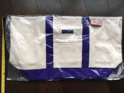 Large Vineyard Vines Custom Collection Canvas Tote Bag NWT NR