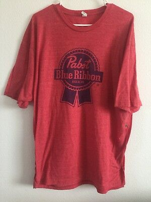 Classic Logo PABST BLUE RIBBON Beer Adult PARTY Fun Vintage Rare T-shirt 2XL XXL