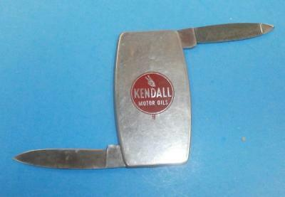 Vintage Collectible Zippo Knife With Kendall Motor Oil Advertising 2000 Miles