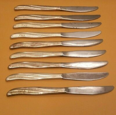 Lot of 9 Vintage TWA dinner knives Transworld Airlines