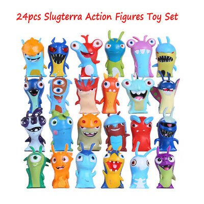 24pcs Slugterra Action Figures Cake Toppers Doll Set Kids Boy Girl Toy Gift HE