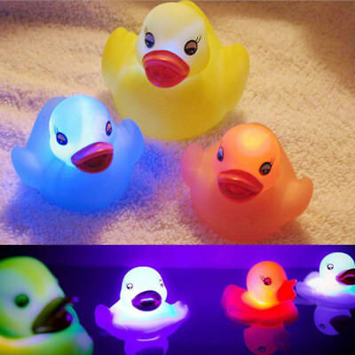 LED Flashing Light Rubber floating Duck with Bath Tub Shower Toys for Kids Hot
