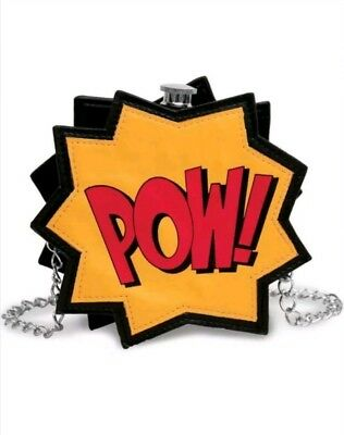 LUXE Collectible -  POW! Flask holds 10fl oz.Vegan Leather, Stainless Steel - RA