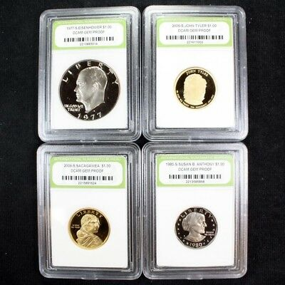 Proof Set of Eisenhower / SBA / Sacagawea / Presidential Dollars High Grade