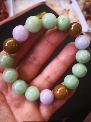 Details about  Natural jadeite bracelet with hand-carved jade beads AAAAA