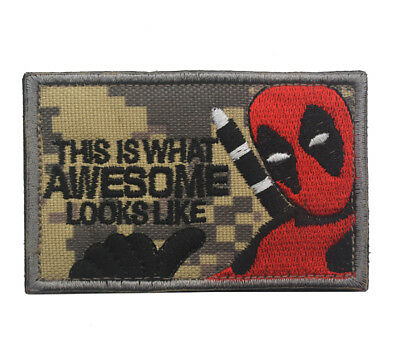 THIS IS WHAT AWESOME LOOKS LIKE ARMY MORALE BADGE Embroidered PATCH A 1183