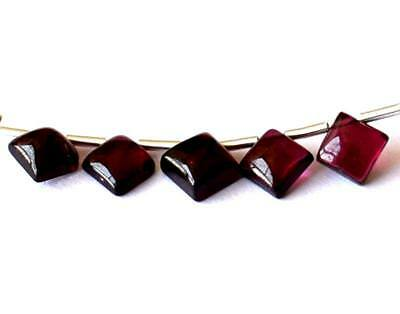 Natural Garnet Beads Flatback Square 4.5 - 5 Mm 5 Pcs Loose Beads #D11626