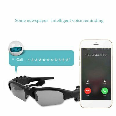 Bluetooth 4.0 Smart Stereo Sunglasses Hands-free Phone Call Stylish For iPhone
