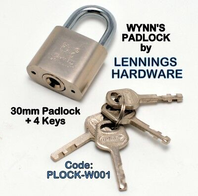 WYNNS - PADLOCK - 30mm with 4 KEYS - 1pc (PLOCK-W001)