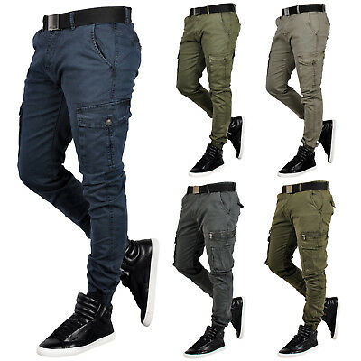 Herren Jogger Cargo hose Chino Stretch Hose Jogg Jeans Sweatpants Sweathose IT52
