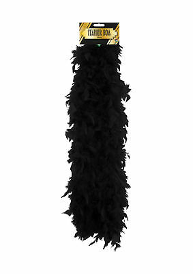 Black Feather Boa - Costume Accessory Fancy Dress Up Flapper 1920's Hen Night