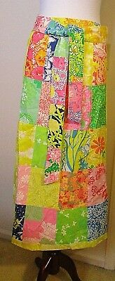 Vintage Lilly? Patchwork Maxi Wrap Skirt - Adjustable Size