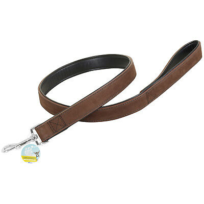 Me & My Pets Strong 1M Brown Real Leather Dog/puppy Walking Training Lead/leash