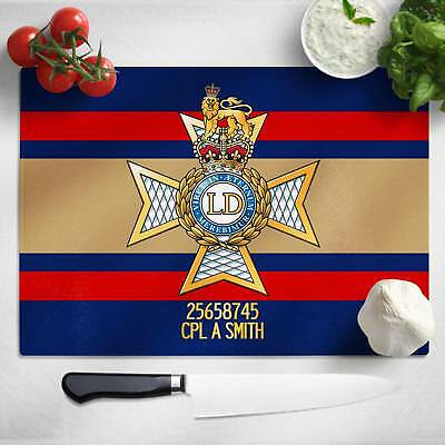 Personalised Light Dragoons Glass Chopping Board Cutting Worktop Saver MT15