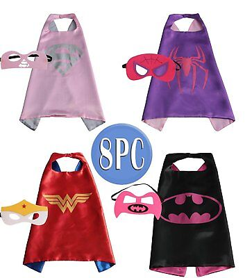 Child Super hero Costume, Cape and Mask Set for Kids Birthday Party DIY Childre