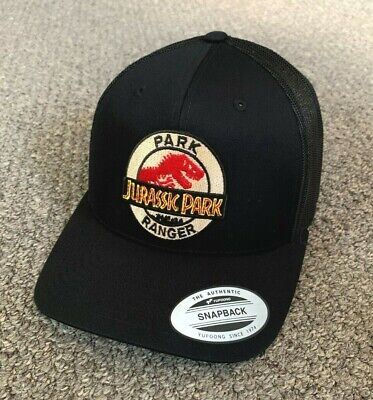 f8bca3f13d5 Jurassic Park Hat Park Ranger Trucker SnapBack Cap with Embroidered Patch