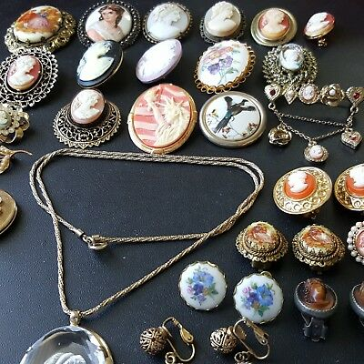 Vintage antique victorian cameo jewelry lot limoges w germany carved vintage antique victorian cameo jewelry lot limoges w germany carved shell dd21 aloadofball Gallery
