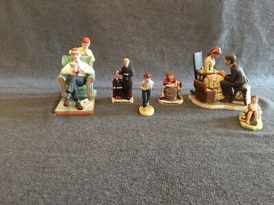 Norman Rockwell - Misc Figurines Lot of 6