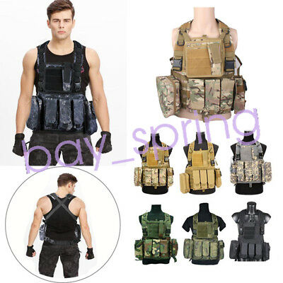 Molle Assault Weste RRV Chest Rig Harness Paintball Kampf Molle Weste