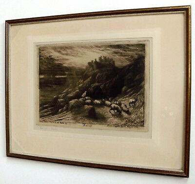 Francis Seymour Haden. Harlech No.2. Radierung, 1880. etching signed early state