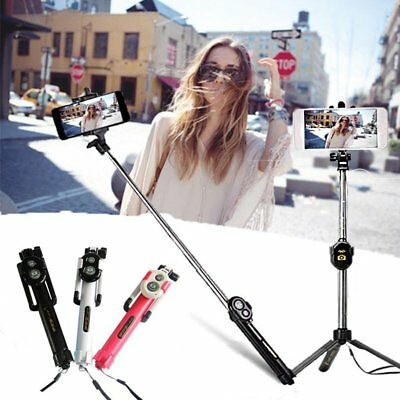 Extendable Selfie Stick Tripod Bluetooth Remote Shutter For iPhone X 8 Plus IOS