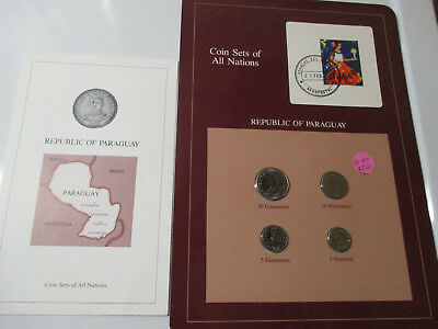 Coins For All Nations Republic Of Paraguay Display Card & Story Card