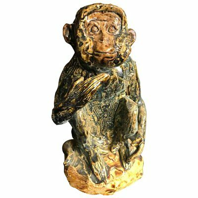 Fine Japan Vintage Hand-Painted Monkey Sculpture Mint, Signed and Boxed