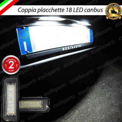 Coppia Placchette A Led Luci Targa 18 Led Volkswagen Scirocco Canbus No Avaria