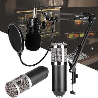 BM800 Wired Condenser Microphone Studio Broadcasting Recording Mic + Shock Mount