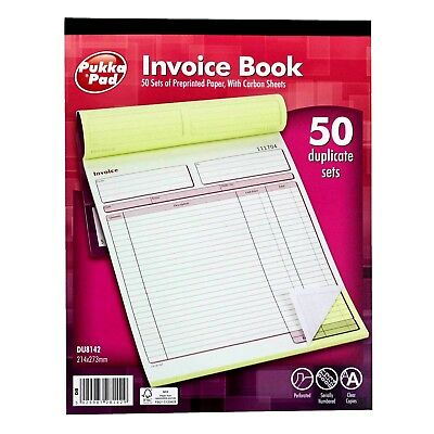 PUKKA PAD Large Invoice Book with Carbon Sheets  -214 x 273mm- WH2 - R5C-429-NEW