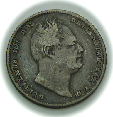 1834 Great Britain 6 Pence KM# 712 Silver Coin - William IV - No Reserve!