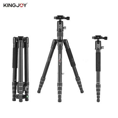 "Kingjoy 57"" Carbon Fiber Portable Travel Camera Tripod Monopod+360° Ball Head"