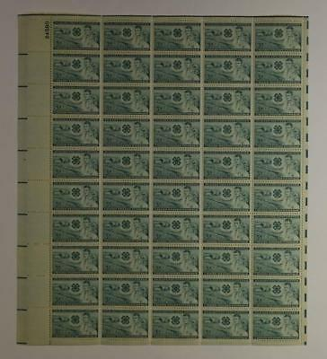 Us Scott 1005 Pane Of 50 The 4-H Clubs Stamps 3 Cent Face Mnh
