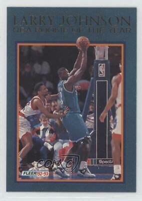 1991 92 Fleer 255 Larry Johnson Charlotte Hornets Rc Rookie