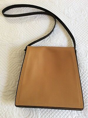Coach Glovetanned Square Leather Saddle Cross Body Bag With Story Patch EUC 2ee1faa531