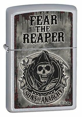 "Zippo ""Sons of Anarchy-Fear The Reaper"" Lighter, Satin Chrome, 28502"