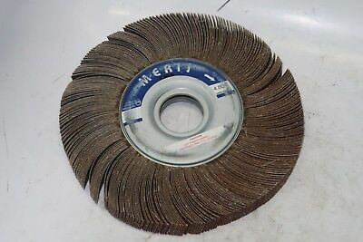 "1 new Merit Grind-O-Flex 10"" x 1"" x 1-1/4"" Al, 80 ARB Grit, Sanding Flap Wheel"