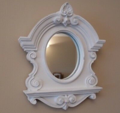 Vintage style Ornate White wall mounted mirror shabby chic bedroom Home Decor
