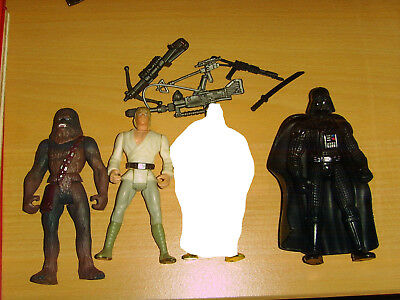 Star Wars Action Figuren Kenner 90er POTF2 Luke Skywalker Darth Vader Chewbacca