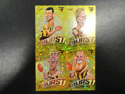 2018 Afl Select Footy Stars Yellow Starburst Caricature Set Of 4 Hawthorn